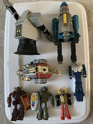 Vintage 70's 80's Toy Robot Lot Power Rangers Vendors Transformer Rare Antique