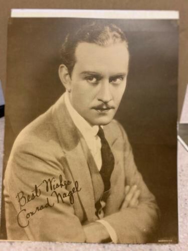 Conrad Nagel - Vintage Sepia Tone publicity photo approx. 11x14