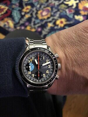 Omega Speedmaster Day-Date Mark 40 Chronograph Automatic Watch Stainless Steel
