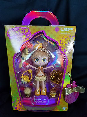 Sdcc Exclusive  Shopkins Golden Jessicake Shoppies Limited Edition Nice  1432