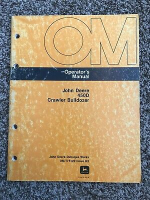 John Deere 450d Crawler Bulldozer Owner Operator Maintenance Manual Omt75122