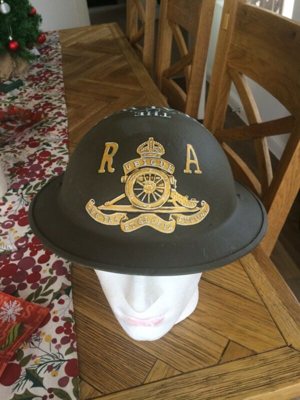 A nice hand painted Royal Artillery Themed designed British army helmet.