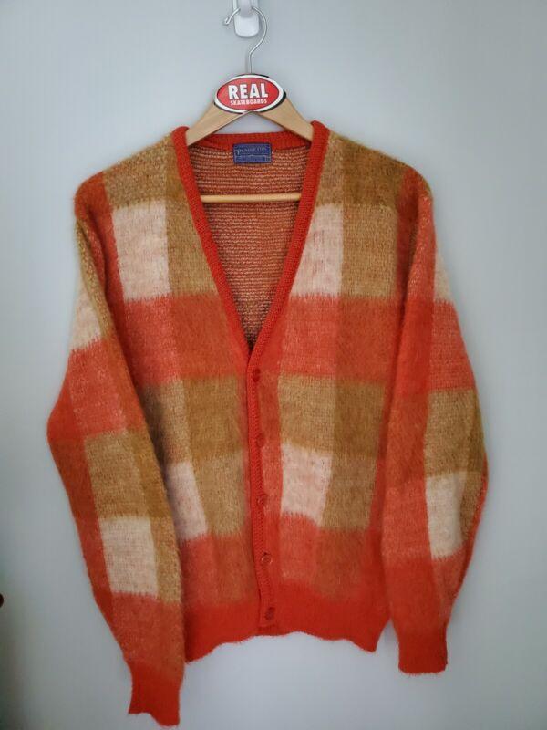 Vintage Pendleton Mohair Cardigan Cobain Sweater Grunge Men