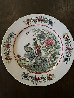 Dish Porcelain Chinese with Peonies and Birds Made in China