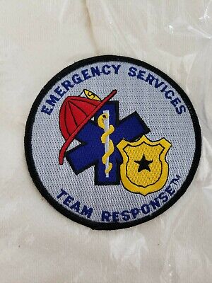 NEW Emergency Services Team Response Shoulder Patch Smoke Free Home