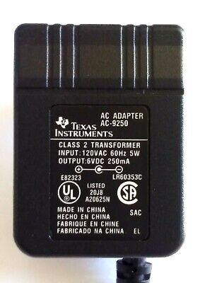 Texas Instruments AC ADAPTER AC-9250 for TI-5006II TI-5019 TI-5032 Calculators