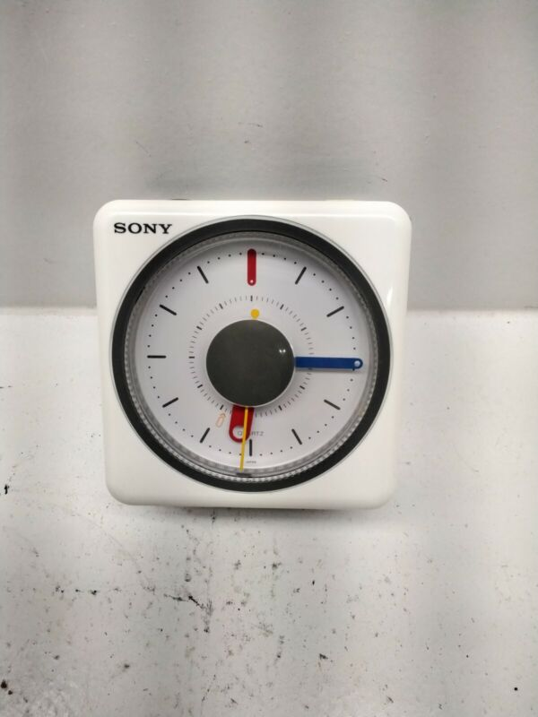SONY ICF- A10W Clock Radio AM/FM/Melody,  TEST WORKING  USED EXCELLENT  CON