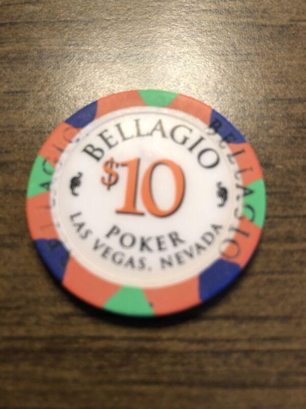 $10 bellagio poker rainbow las vegas nevada  casino chip super rare
