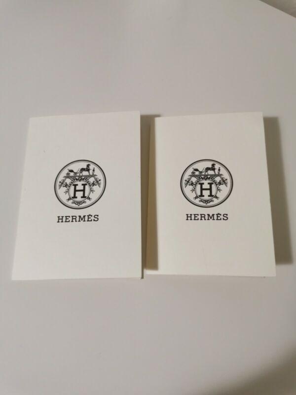 New Hermes Authentic Empty Envelopes/Receipt Holders Set Of 2 Pieces