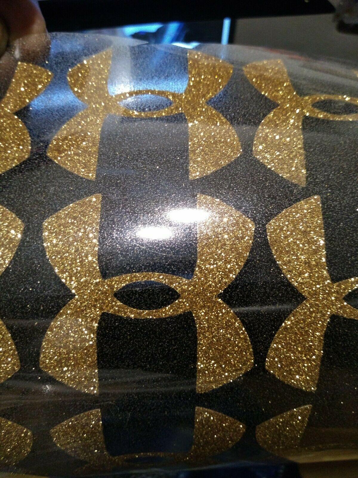 2 Pcs Gold Glitter Under Armour Iron-On LOGO 2X2 inches DIY