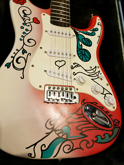 Electric guitar left or right handed