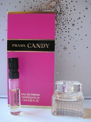 DESIGNER Perfumes~ CHLOE Eau De Parfum Mini .17oz/5ml + PRADA CANDY Sample Spray