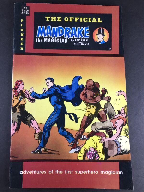 ERROR CUT The Official Mandrake The Magician #5 Pioneer Comics Cross Cut Mistake