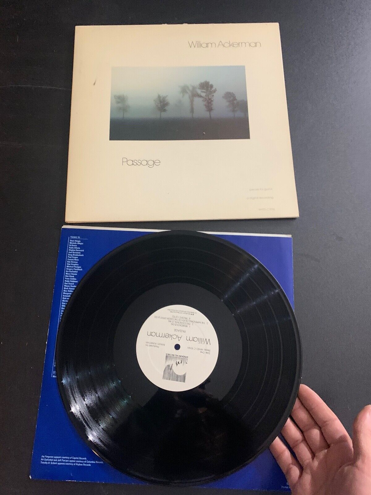LP RECORD - WILLIAM ACKERMAN - PASSAGE - WINDHAM HILL RECORDS - $9.99