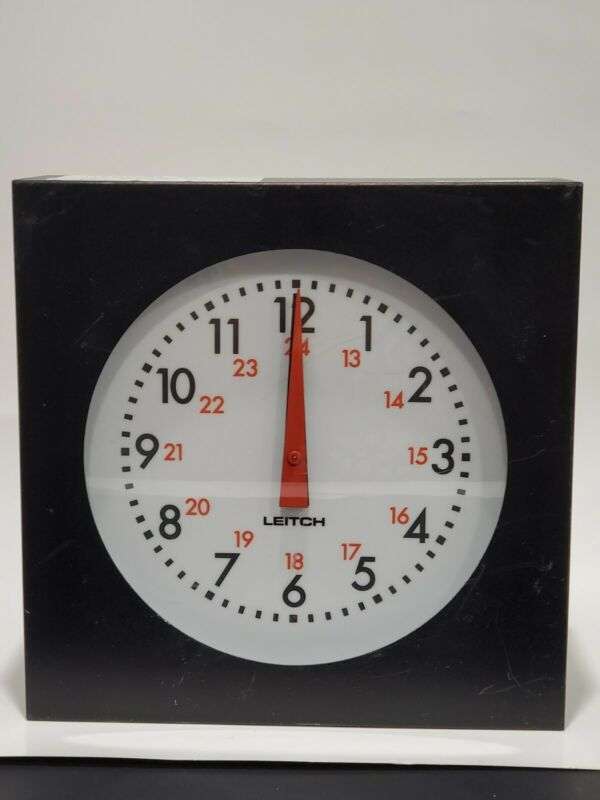 AS-IS *FOR PARTS* - LEITCH ADC-5108 ANALOG BROADCAST STUDIO WALL CLOCK TIMECODE