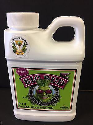 Advanced Nutrients Big Bud Liquid 250ml bloom booster enhancer fertilizer SAVE $
