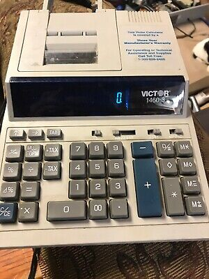 Victor 1460-3 Commercial Print Desk Calculator Dual Color Print 12 Digits Tested