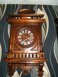 Antique Black forest striking wall clock  By H.A.C 1894 from germany