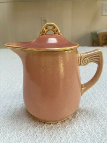 Vintage Homer Laughlin Wells Art Glazes Peach Syrup NO damage. Excellent!