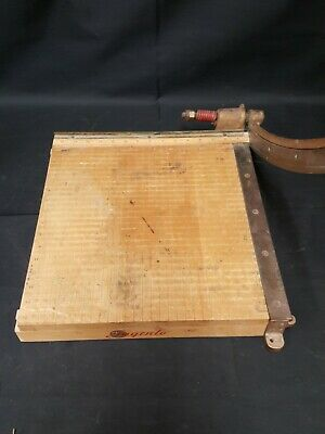 Ingento No.5 Paper Cutter 14.5 X 15.25 Maple Base - Cast Iron - Steel Blade