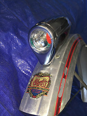 Chrome bicycle HEADLIGHT BIKE LIGHT FOR SCHWINN COLUMBIA BICYCLES NOT WORKING