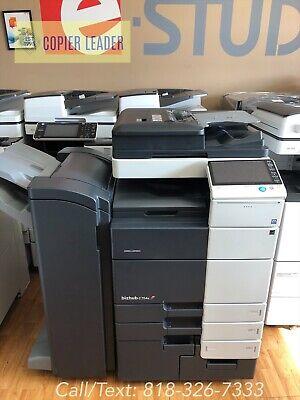 Konica Minolta Bizhub C754e Super Low Meter Copier Printer Scan Fax Finisher