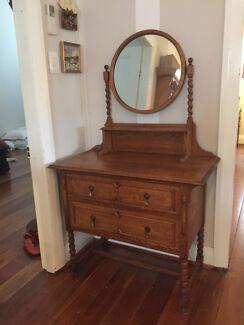 Gorgeous Antique Oak Dressing Table Dresser