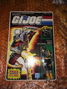 Vintage GI Joe 1986 B.A.T MOC unpunched Battle ribbon variant