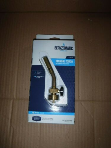 BernzOmatic Ul2317 Brass Pencil Flame Manual Torch Head for General Applications