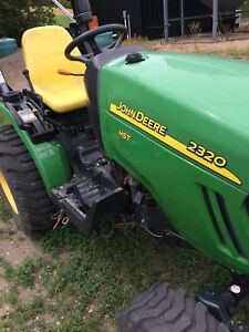 JD 2320 with mower / tiller