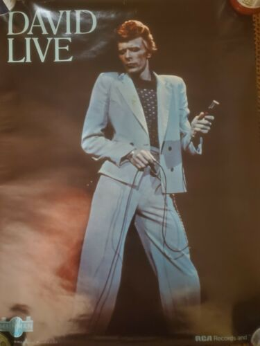 """David Bowie Promotional Poster """"David Live"""" Tower Theatre 1974 """"Mainman / RCA"""""""
