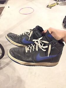 Nike dunk highs blue black colour way Edmonton Edmonton Area image 7