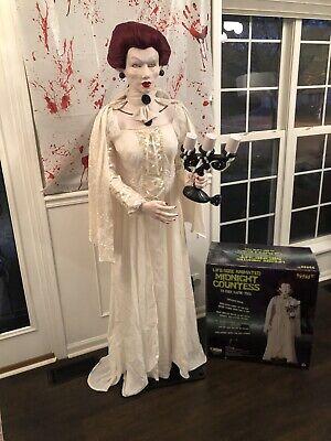 Halloween Life size MIDNIGHT COUNTESS animated prop 6' GEMMY SPIRIT