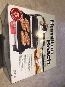 Hamilton Beach indoor grill/panini press