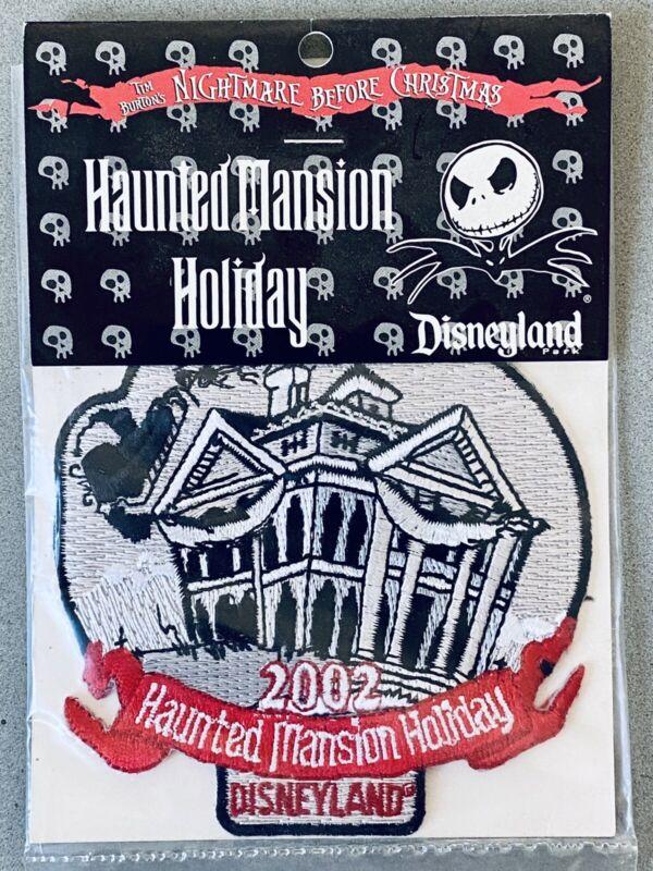 2002 RARE DISNEYLAND HAUNTED MANSION HOLIDAY PATCH NIGHTMARE BEFORE CHRISTMAS