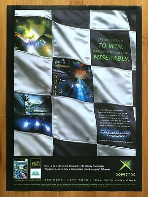 Quantum Redshift Xbox 2002 Vintage Print Ad/Poster Official Racing Game Art UK