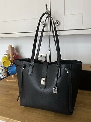 Beautiful Genuine MICHAEL KORS CASSIE Pebbled Leather Black Tote Bag