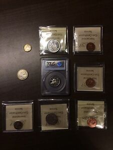 Collection De Monnaie / Coin Collection / ICCS Graded / Silver