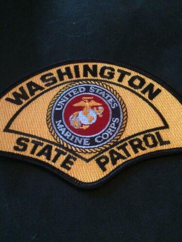 Washington State Patrol US Marine novelty patch USMC