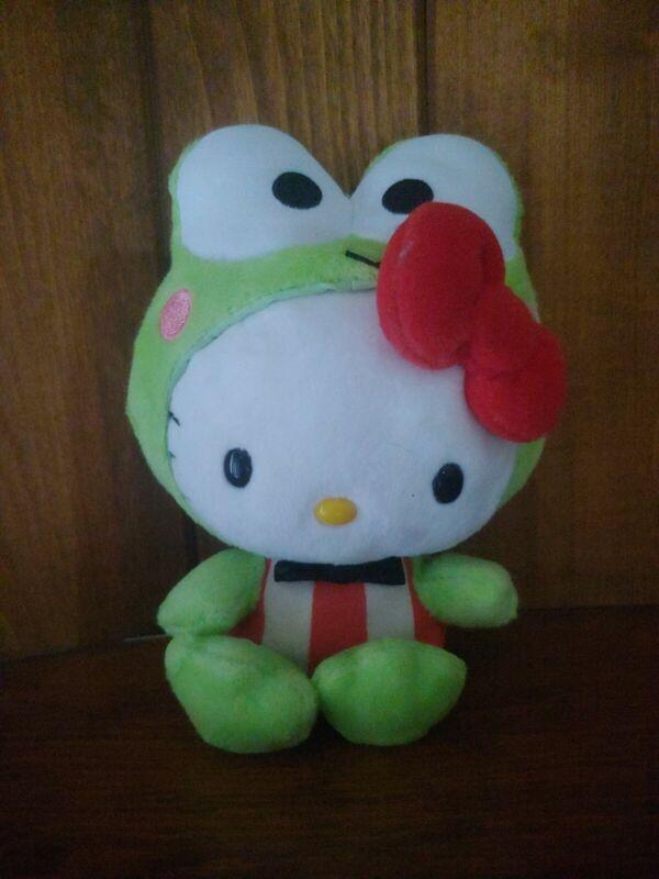 """Hello Kitty in Keroppi Frog Costume 6"""" Plush Jakks Pacific"""