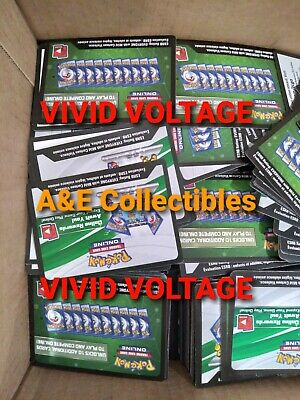 Pokemon TCG Vivid Voltage ONLINE Code Cards 50 EMAILED CODES READ IN FULL. ptcgo