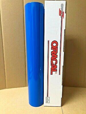 Oracal 651 1 Roll 24 X 10yd 30ft Azure Blue 052 Gloss Sign Vinyl