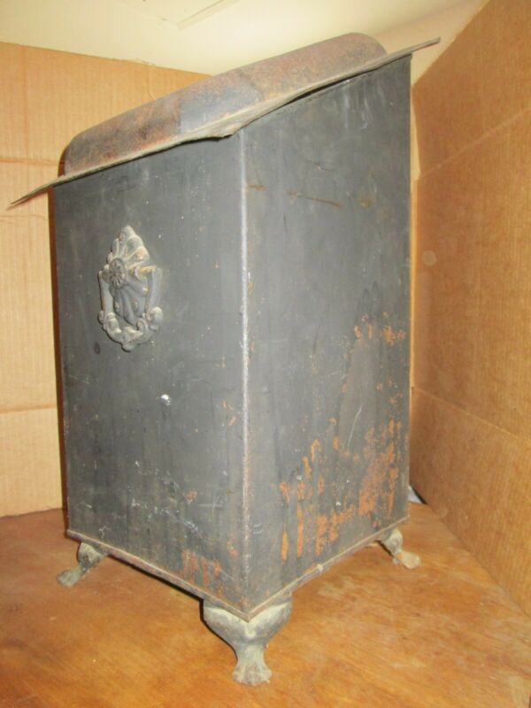 Vintage Victorian Style Coal Scuttle, painted with insert