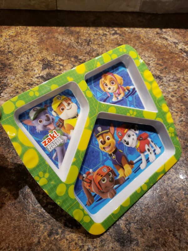 Brand New!!! Paw Patrol Kids Divided Plate Free Shipping!!!