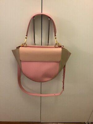WANDLER Hortensia Medium Pink Leather Color Block Shoulder Bag