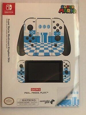 Controller Gear Nintendo Switch Skin   Mario Mushroom Kingdom  Officially Lic