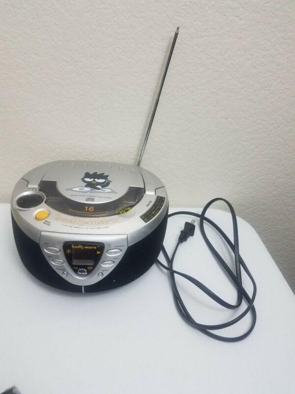 Sanrio Badtz Maru CD Player AM FM Radio Stereo Working Hello Kitty