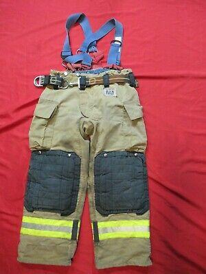 Mfg 2012 Morning Pride Fire Fighter Turnout Pants 36 X 29 Bunker Gear Suspenders