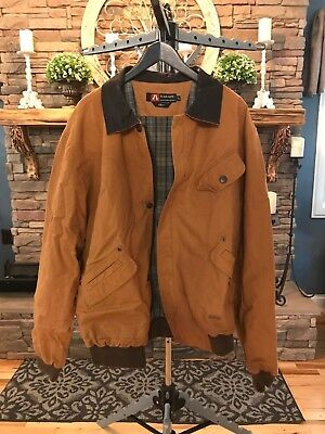 KAKADU Jacket Bomber XL Cotton Canvas Leather Collar Outdoor Rugged Work Tough, used for sale  Prestonsburg