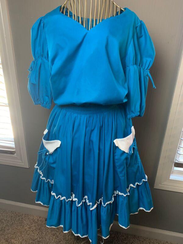 Partners Please Malco Modes Lace Rockabilly Western Square Dance Dress Vintage